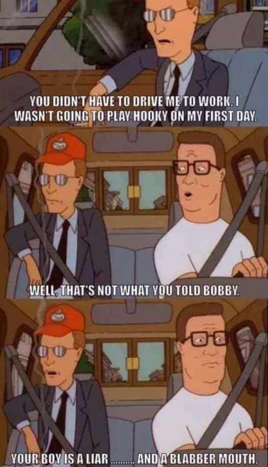 King of hill memes