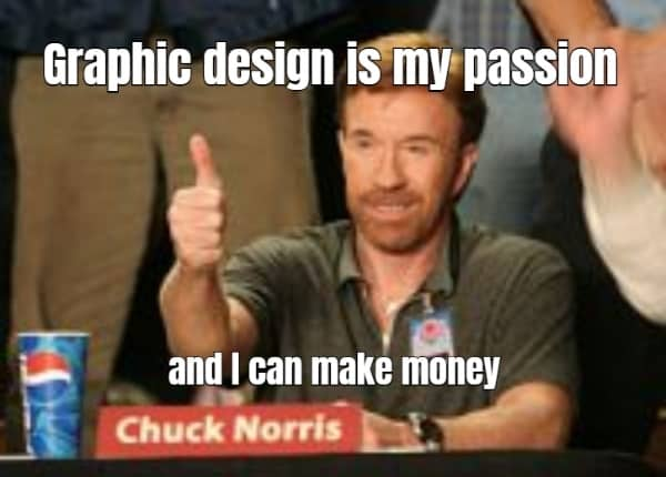 Graphic design is my passion meme